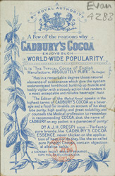 Advert for Cadbury's Cocoa reverse